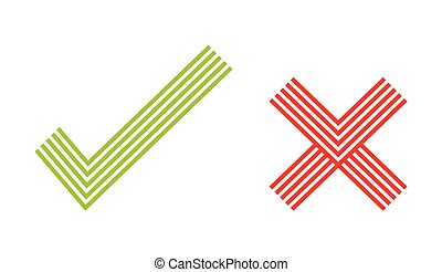 Confirm check marks vector icons