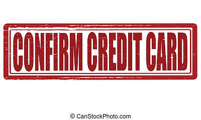 Confirm credit card