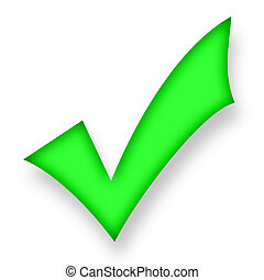 Confirm - Electric green symbol of confirmation soaring ...