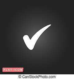 confirm flat icon