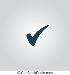 confirm icon - confirm. Flat web icon or sign isolated on ...