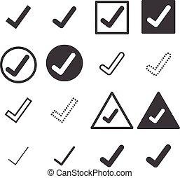 confirm icons set