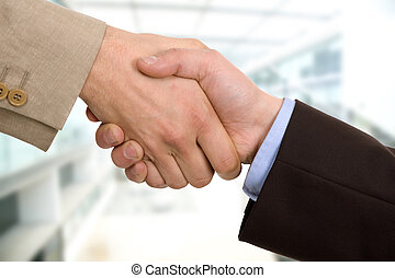confirmation - Business team hand shake at the office