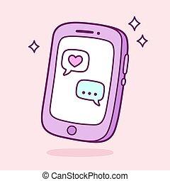 confissão, smartphone, amor