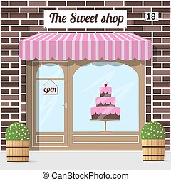 confitería, shop., dulce, dulce, store., tienda