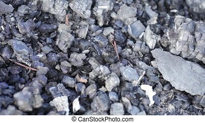 Conflagration - The site of a fire. Charred iron