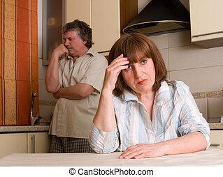 Conflict 10 - mature couple in quarrel
