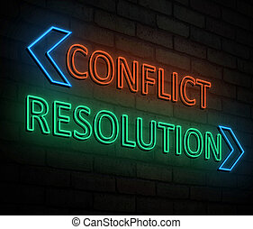 Conflict and resolution concept.
