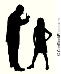 Conflict between father and defiant child