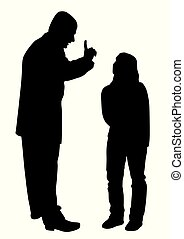Conflict between father and teenage daughter