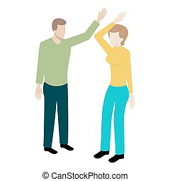 Conflict between man and woman. - Conflict between man and ...