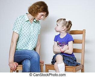 Conflict between mother and daughter - Conflict between...