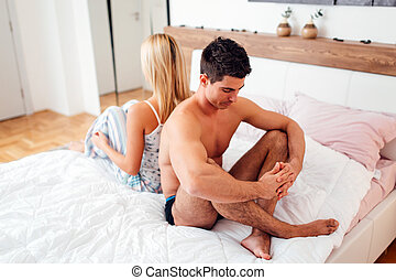 Conflict in relationship and sex life