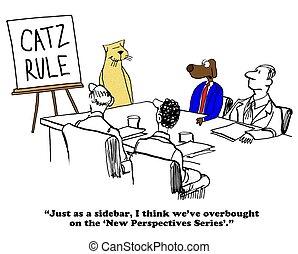 Conflict Management - Business cartoon about conflict...