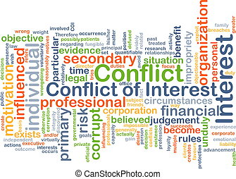 Conflict of interest background concept - Background concept...