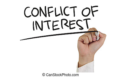 Conflict of Interest Concept - Business concept image of a ...