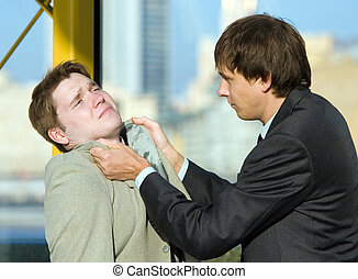 conflict - The conflict between two young business men