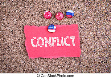 CONFLICT. Political relations between the United States, Turkey, Russia and China