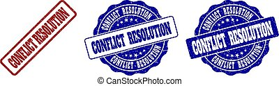 CONFLICT RESOLUTION Grunge Stamp Seals