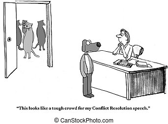 Conflict Resolution Seminar - Cartoon about a challenging ...
