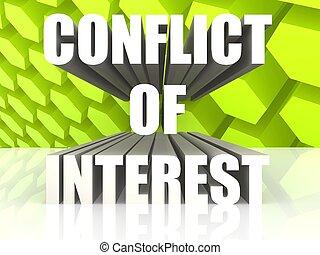 conflicto, interés