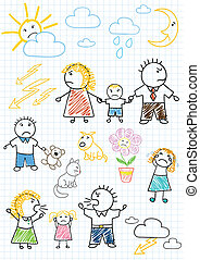 Conflicts within the family - Vector drawings - conflicts...