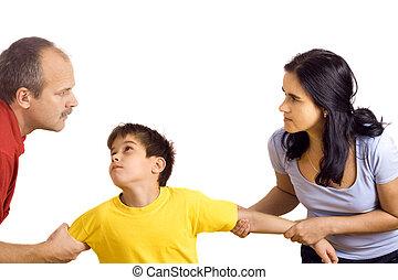 conflit, dans, famille