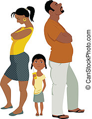 conflit, famille, affects, enfants