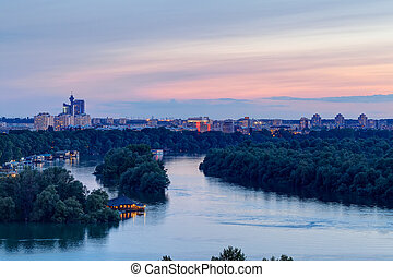 Confluence of two rivers - Belgrade confluence of two rivers...