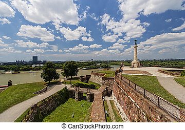 Confluence of two rivers - Belgrade fortress and confluence...