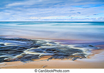 Confluence - Long exposure photograph with an abstract look...