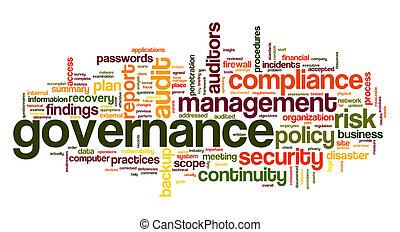 conformità, parola, nuvola, governo, etichetta