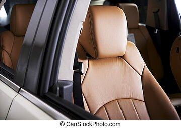 confortável, assento carro