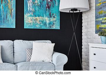 confortável, sala de estar