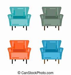 confortable, fauteuil
