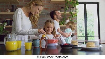 confortable, préparer, cuisine, nourriture, 4k, worktop,...