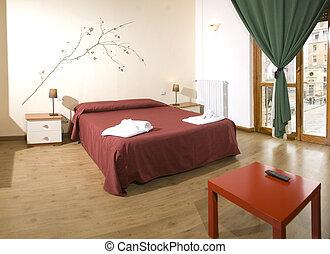 confortevole, camera letto