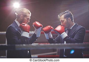 confrontação, negócio