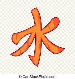 Confucian symbol icon in cartoon style on a background for any web design