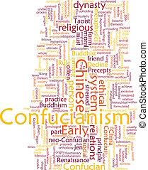 confucianesimo, parola, nuvola
