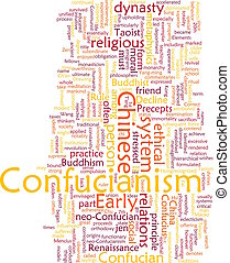 confucianism, palavra, nuvem