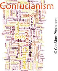 confucianism, woord, wolk