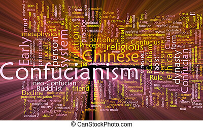 Confucianism word cloud glowing - Word cloud concept ...