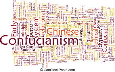 confucionismo, nube, palabra