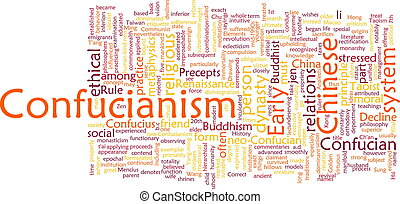 confucionismo, palabra, nube