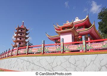 confucionismo, templo, bengkayang