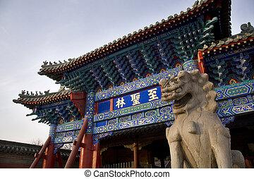 confucius, china, cementerio