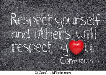 confucius, respect, vous-même