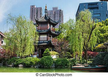 confucius, sciangai, wen, tempio, porcellana, miao