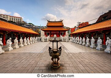 Confucius Shrine - Nagasaki, Japan - December 9, 2012:...